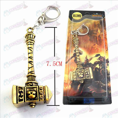 World of Warcraft Accessories Marshal Warhammer World Bronze Keychain