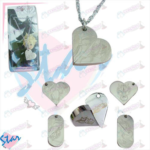 Heart-shaped necklace rotation animation