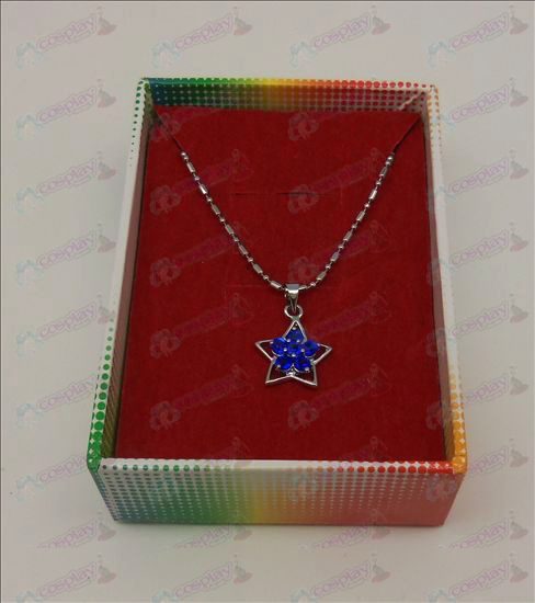 Lucky Star Accessories Diamond Necklace (Blue)