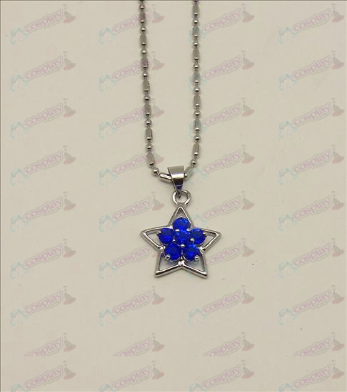 Blister Lucky Star Accessories Diamond Necklace (Blue)