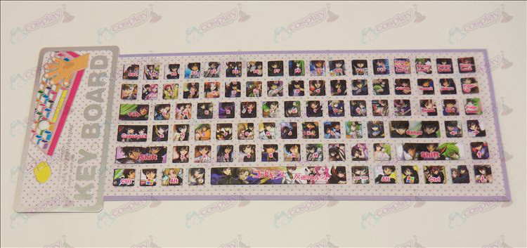 PVC keyboard stickers (Lelouch)
