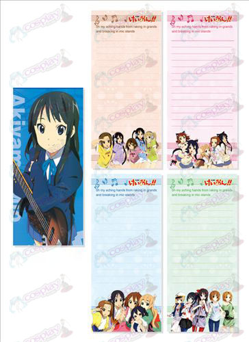 K-On! Accessories Long Scratch Pad 015