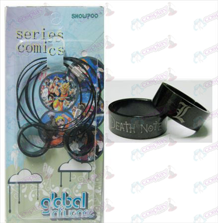 Death Note Accessories black steel couple rings necklace (rope)