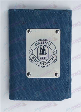 English Premier League Manchester United White canvas wallet