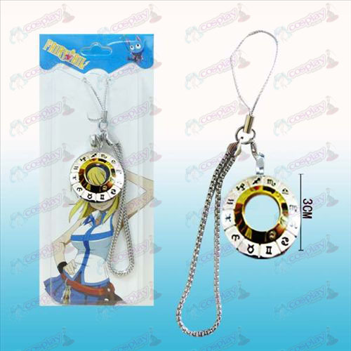 Fairy Tail 12 horoscope signs white steel machine rope (golden