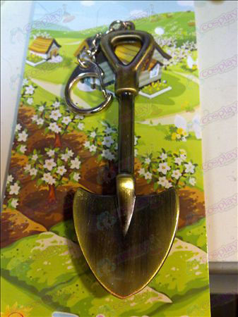 QQ Ranch shovel Keychain (Bronze)