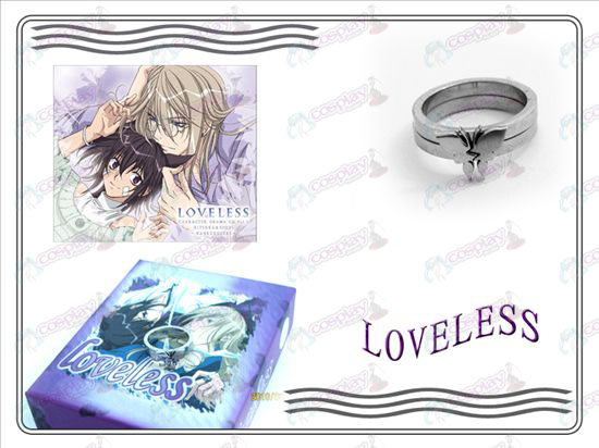 loveless butterfly stainless steel couple rings (B section)