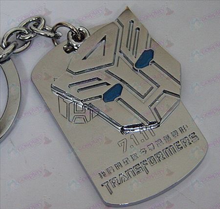 Transformers Accessories Autobots shuangpai Keychain - Blue Oil - White