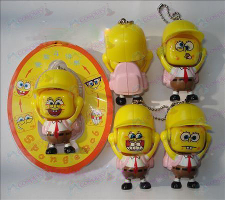 SpongeBob SquarePants Accessories face doll ornaments (a) powder packets