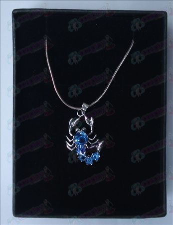 Saint Seiya Accessories scorpion necklace (light blue)