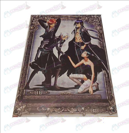 D42 * 29D.Gray-man Accessories embossed posters (8)