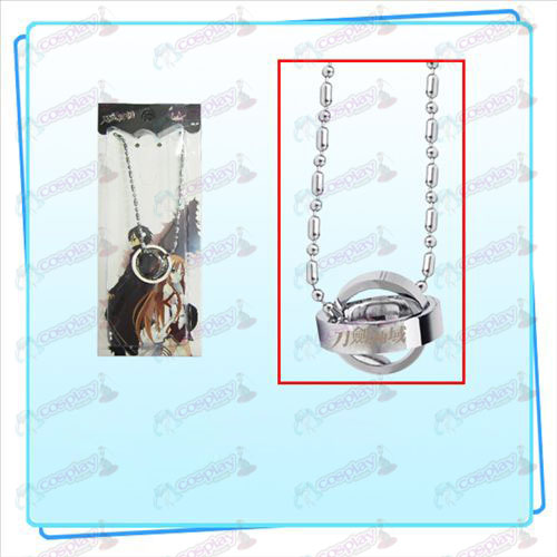 Sword Art Online Accessories Dual Ring Necklace (Silver)