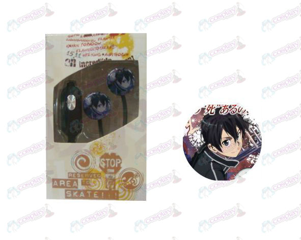 Flat line can voice headset Sword Art Online Accessories Kazuto