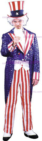 Uncle Sam Sequin Large Deluxe