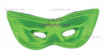 Harlequin Mask,Satin,Green