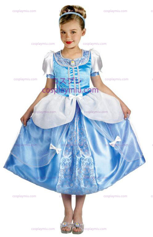 Cinderella Deluxe Childrens Halloween Costume in Size (4-6x)