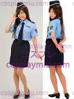 Sweet Police Costume of Shirt and Miniskirt