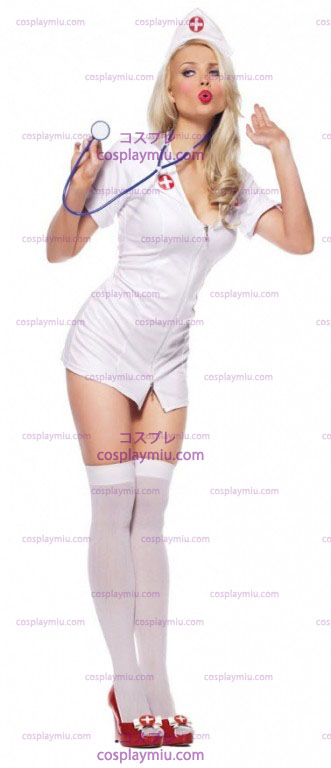 Sexy Nurse With Headpiece Adult Costume