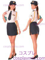 Orthodox Lady Police Costume of White Blouse and Black Miniskirt