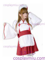 Cute Maid Long Sleeve Kimono Style Costume