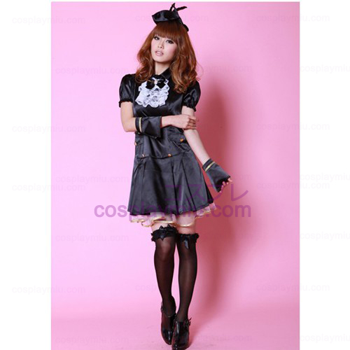 Black Princess Dress Lolita Cosplay Maid Costumes