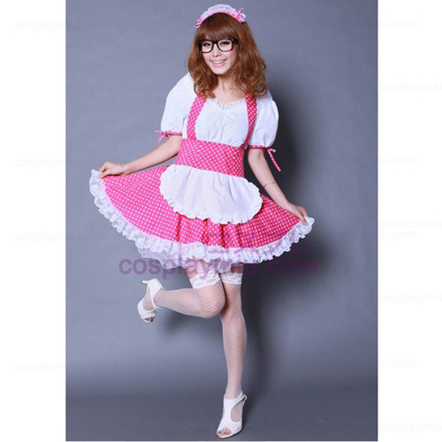 K-ON Pink Cosplay Maid Costumes