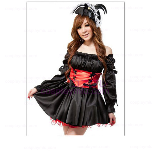 Caribbean Off-The-Shoulder Princess Skirt Lolita Maid Costumes