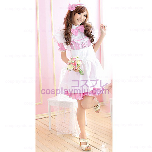 Pink Plaid Maid Installed/Anime Cosplay Singer Ds Maid Costumes