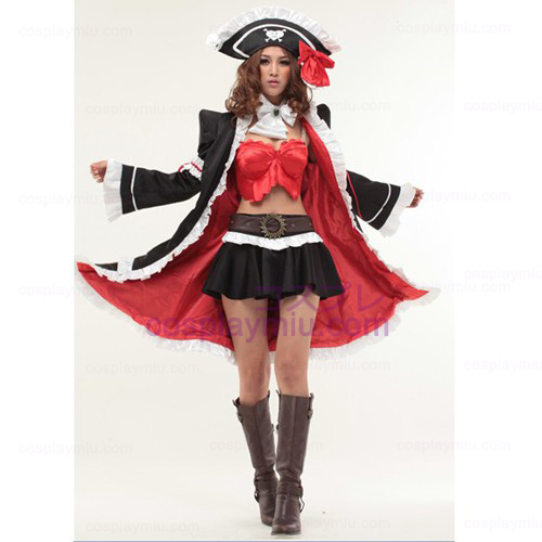Red Lily Anna Cosplay Anime Halloween Pirate Maid Costumes