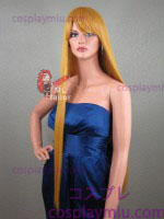 "36"" Straight Autumn Gold Blonde Cosplay Wig"
