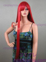 "36"" Straight Apple Red Cosplay Wig"