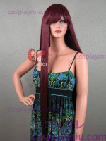 "36"" Straight Burgandy Red Cosplay Wig"