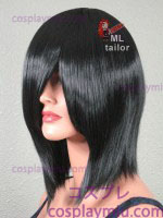 "15"" Black Straight Cosplay Wig"