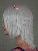 "14"" Silver Layered Cosplay Wig"