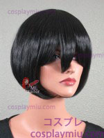 "12"" Black Straight Bob Cosplay Wig"