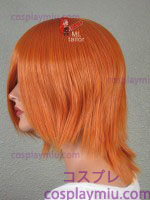 "14"" Autumn Orange Layered Cosplay Wig"