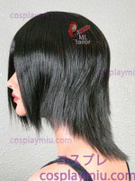 "14"" Black Layered Cosplay Wig"