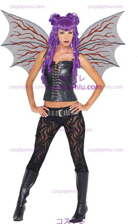 Demonette Wings W/Veins Black