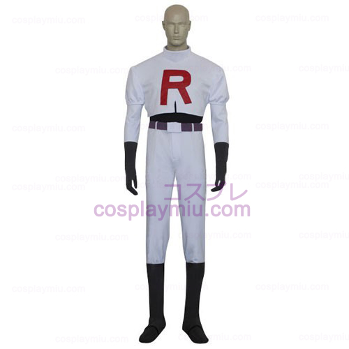 Pokemon Team Rocket James Men Cosplay Costume