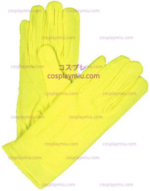 Gloves Nylon W Snap Neon Yellow