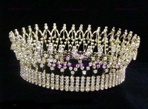 Rhinestone Crown Silver-CT002