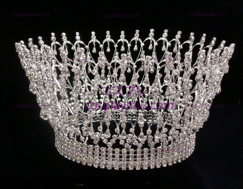 Rhinestone Crown Silver-CT004