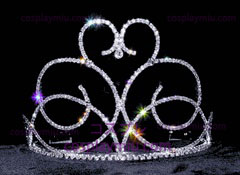 Swirling Heart Tiara