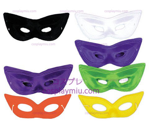 Harlequin Mask,Satin,Black