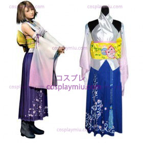Final Fantasy X Yuna Women Cosplay Costume