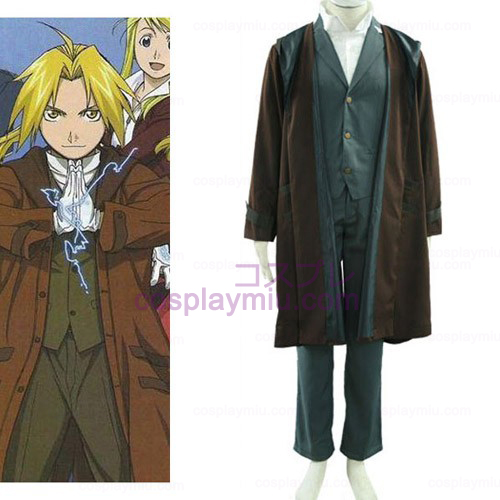 Fullmetal Alchemist Edward 2th Cotton Polyester Cosplay Costume