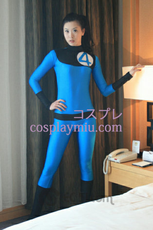 Blue Black Spandex Lycra Catsuit