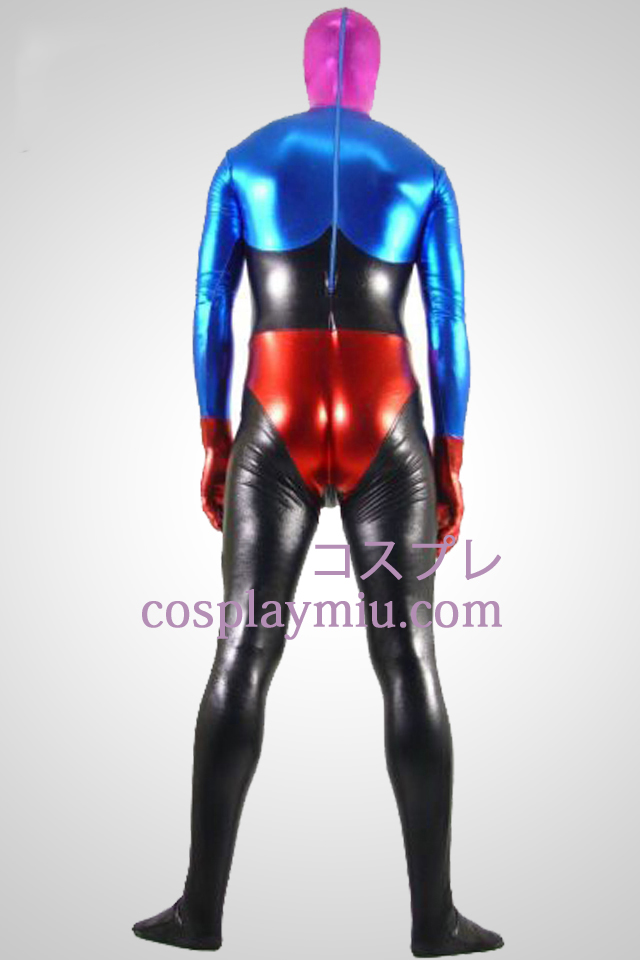 Shiny Metallic Four Colers Unisex Zentai Suit