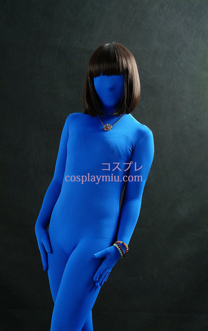 Royal Blue Unisex Modal Zentai Suit