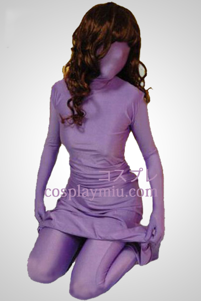 Purple Lycra Spandex Dress